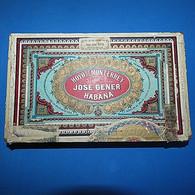 Empty Tobacco Box - Wood - Cigars - Hoyo De Monterrey De José Gener - Habana - 1912 - Cajas Para Tabaco (vacios)