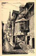 ROUEN -76- RUE DES MATELAS - DESSIN A LA PLUME - Rouen