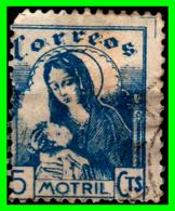 ESPAÑA AÑO 1936 GUERRA CIVIL ESPAÑOLA C0RREOS MOTRIL. 5 CENTIMOS AZUL - 1931-50 Usados