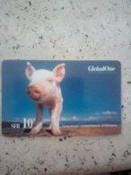 SUISSE PREPAID GLOBAL ONE COCHON PIG VALID DEC 2004 10F UT - Schweiz