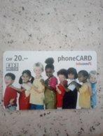 LIECHTENSTEIN PREPAID TELECOM FL KIDS ENFANTS VALID 07/2006 20F UT - Liechtenstein