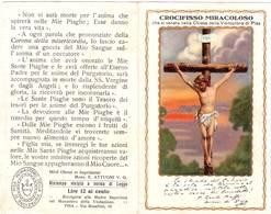 Santino Crocifisso Miracoloso - Chiesa Della Visitazione Di Pisa - Pieghevole A Due Ante - Santini