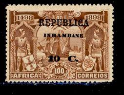 ! ! Inhambane - 1913 Vasco Gama On Africa 10 C - Af. 53 - MH - Inhambane