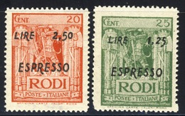 Espressi Lire 1,25 E Lire 2,50 Nuovi MNH** - Aegean (German Occ.)