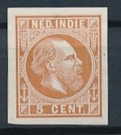 Nederlands Indië - 1868 - 5 Cent Willem III, Proef 11c - Bruin - Niederländisch-Indien