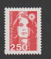 TIMBRE -    1991   -   N°  2715    -  Marianne Du Bicentenaire  2f. 50 Rouge -     Neuf Sans Charnière - France