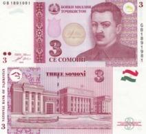 Tajikistan  3 Somoni 2010  P 20  UNC - Tayikistán