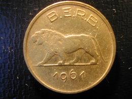 Ruanda Burundi  1 Fr 1961 VF - Andere - Afrika