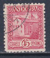 Andorre Espagnol N° 38 O  Partie De Série : 45 C. Rose Oblitéré, TB - Andorre Espagnol