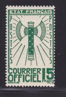 FRANCE SERVICE N°   14 ** MNH Neuf Sans Charnière, TB, Cote: 35 Euros (lot 1) - Service