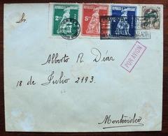 1923 URUGUAY V12 SPECIAL FLIGHT COVER VUELO VOL - Batalla De SARANDI GRANDE - MONTEVIDEO Bataille BATTLE - Uruguay