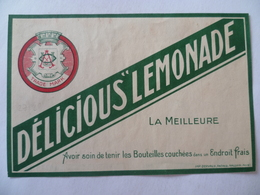 Ancienne étiquette  TRADE MARK  DELICIOUS LEMONADE - Altri