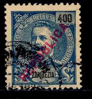 ! ! Zambezia - 1917 King Carlos Local Republica 400 R - Af. 100 - Used - Zambèze