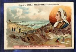 Chromo Poulain Orange N�14 Penmarch Bretagne Finist�re Bretonne Old Trade Card - Poulain