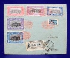1925 URUGUAY V16A  FLIGHT COVER VUELO VOL MONTEVIDEO-FLORIDA  AIRCRAFT INDEPENDENCE INDEPENDENCIA Bird Ave Garza - Uruguay