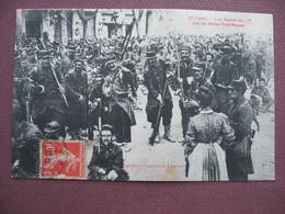CPA 34 BEZIERS EVENEMENTS Mutinerie Militaire MILITAIRES Mutins  17 è Régiment Infanterie Allées Riquet 1907 TOP ANIMEE - Beziers