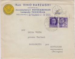 Lampade Tungsram -  Con Francobollo Propaganda Di Guerra - Milizia - 1944-45 République Sociale