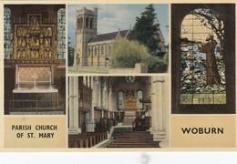 Postcard Parish Church Of St Mary Woburn My Ref  B14042 - Angleterre