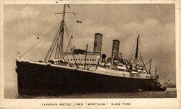 "Canadian Pacific Liner ""Montcalm"" 16.400 Tons  Carguero. Cargo Ship. Naviere Cargo - Handel"