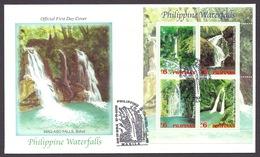 Philippines 2003 - Philippine Waterfalls, Casiawan, Pangi, Kipot Twin Falls, Tinago FDC - Filippine