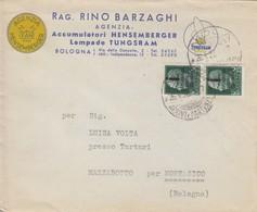 Lampade Tungsram -  Con Coppia Di Francobolli Soprastampati Da Cent. 25 - 1944-45 République Sociale