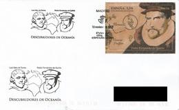 SPAIN. FDC DISCOVERIES OF OCEANIA. PEDRO FERNANDEZ DE QUIROS. 2017 - FDC