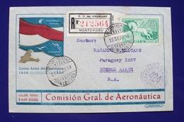 1931 URUGUAY V45 Flight Vuelo MONTEVIDEO-BUENOS AIRES Centennay Air Mail Aeronautics AERONAUTICA - Uruguay
