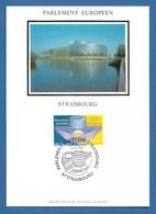 Frankreich 1998  Mi.Nr. 3349 , EUROPA CEPT Sympathie-Mitläufer  Parlement Europeen - Maximum Card - Strasbourg 5-12-1998 - 1998