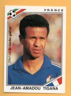 "Figurina Panini Coppa Del Mondo ""Mexico 86"" France - Jean-Amadou Tigana - Tarjetas"