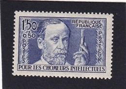 FRANCE 1936 - YT N°333 - 1 F. 50+50 C. Outremer - Au Profit Des Chômeurs Intellectuels Louis Pasteur - Neuf** - TTB Etat - France
