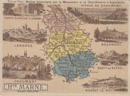 Haute-Marne 52 - Histoire Géographie - Chromo - Publicité Cacao Aiguebelle Monastère Des Pères Trappistes Grignan Drôme - Autres