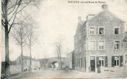 RARE! Edit: LAFLOTTE. NATOYE (Hamois) Grand Route De Namur (café Chez Cosse), Prés De Assesse Et Braibant.  Postée 1913 - Belgique
