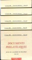 Documents Philatéliques N° 84 à N° 88 - Philatélie Et Histoire Postale