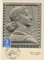 CARTE-MAXIMUM France N° Yvert 1011B (MARIANNE De MULLER)  Obl Sp Ill Journée Du Timbre 58  (Ed GP) - 1950-59