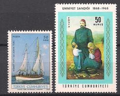Türkei  (1968)  Mi.Nr.  2100 + 2101  Postfrisch / ** / Mnh  (6ge19) - Unused Stamps