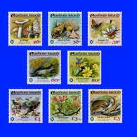 Scotland Easdale Island 1988 Flora And Fauna - Cpl Set Of 8 Face Value £11.64 - Vegetales