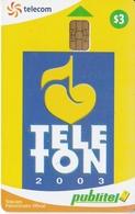 TARJETA DE EL SALVADOR DE PUBLITEL DE $3 DE TELETON 2003 - Salvador
