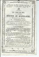 Beatrix De Wispelaere  Echt P Dobbelaere 1792  + Bassevelde 21 -01-1856 - Devotion Images