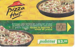 TARJETA DE EL SALVADOR DE PUBLITEL DE $3 DE PIZZA HUT - Salvador