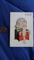 CALENDRIER DE POCHE 1932 FEMME DANS UN DECOR ART DECO DEVANT SA GLACE A SA TOILETTE PUB GALATEE IMP G LANG - Petit Format : 1921-40