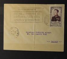 03 - 20 // Laos - Lettre Avec N°8 De Vientiane A Destination De Saigon - 1ère émission Du Laos - Laos
