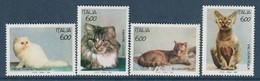 ITALIE - N°2004/7 ** (1993) CHATS - Hauskatzen