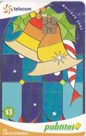 TARJETA DE EL SALVADOR DE PUBLITEL DE $3 DE NAVIDAD (CHRISTMAS) - El Salvador
