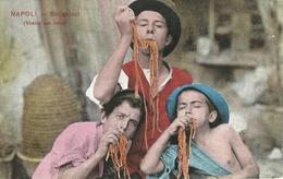 """6850 """" NAPOLI-SCUGNIZZI-(SCENA DAL VERO) """"ANIMATA-CARTOLINA POSTALE ORIGINALE NON SPEDITA MA DATATA 1918 - Napoli"""