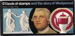 GRAN BRETAGNA 1972 PRESTIGE BOOKLET SG DX1 SCOTT BK144 THE STORY OF WEDGWOOD - Libretti
