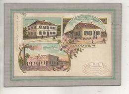 CPA - (68) MERXHEIM - Carte Gruss Multivues De 1910 - Mairie, Restaurant, Filature - France