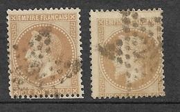 France   N°28A  Et 28Aa     Oblitérés  B/TB  étoile De Paris       ... Soldé à Moins De 10  % - 1863-1870 Napoleon III With Laurels
