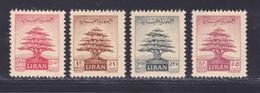 LIBAN N°   69 à 72 * MLH Neufs Avec Charnière, B/TB (D9347) Cèdre - 1952 - Liban