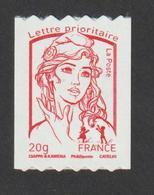 TIMBRE -   2013  -  N°  4779  - Marianne De Ciappa - TVP Rouge  N° Noir 175 Au Verso       Neuf Sans Charnière - France