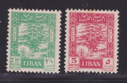 LIBAN N°   24 & 25 **/* MNH / MLH Neufs Sans/ Avec Charnière, B/TB (D9348) Cèdre - 1947-48 - Liban